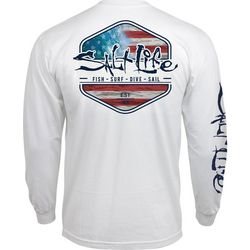 Salt Life Mens Amerisea Crew Long Sleeve T-Shirt