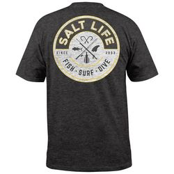 Salt Life Mens Friction Pocket Heathered T-Shirt