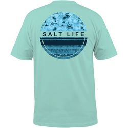 Salt Life Mens Batik Palms T-Shirt