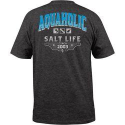 Salt Life Mens Aquaholic Heather T-Shirt