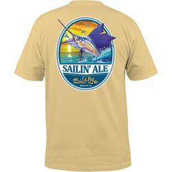 Salt Life Mens Sailing Ale Pocket Crew T-Shirt