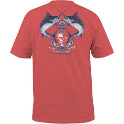 Salt Life Mens Anchored Marlins Pocket T-Shirt