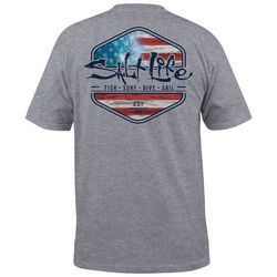 Salt Life Mens Ameriseas Heather T-Shirt