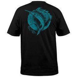 Salt Life Mens Circle Sailfish Pocket T-Shirt