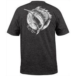 Salt Life Mens Circle Sailfish Heather Pocket T-Shirt