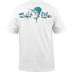 Salt Life Mens Waterdrop Sailfish Pocket T-Shirt