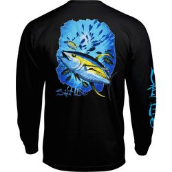 Salt Life Mens Yellow Fin Tuna Long Sleeve T-Shirt
