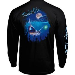 Salt Life Mens Night Swordfish Long Sleeve T-Shirt