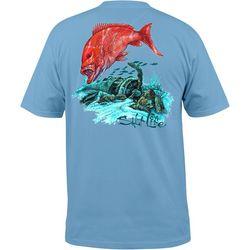 Salt Life Mens Big Red T-Shirt