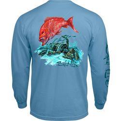 Salt Life Mens Big Red Long Sleeve T-Shirt