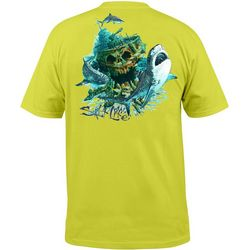 Salt Life Mens Tiger Shark Pocket T-Shirt
