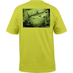 Salt Life Mens Great White Shark Pocket T-Shirt