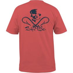 Salt Life Mens Skull & Hooks Short Sleeve Pocket T-Shirt