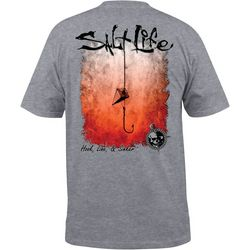 Salt Life Mens Hook, Line & Sinker Pocket T-Shirt