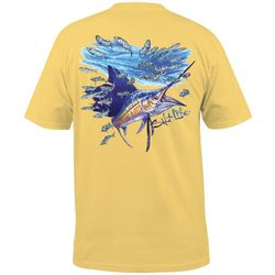 Salt Life Mens Slashing Sail Pocket T-Shirt