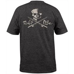 Salt Life Mens Skull & Poles Pocket Short Sleeve T-Shirt