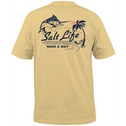 Salt Life Mens Wake & Bait Pocket T-Shirt