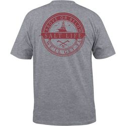 Salt Life Mens Above or Below Heathered Short Sleeve T-Shirt