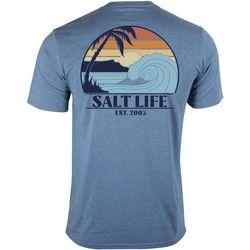 Salt Life Mens Enjoy The Ride Heathered Performance T-Shirt