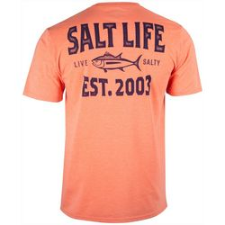 Salt Life Mens Tuna Depth Heathered Performance T-Shirt