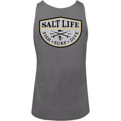 Salt Life Mens Spearfish Badge Tank Top