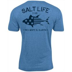 Salt Life Mens Red White Bluefin T-Shirt