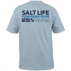 Salt Life Mens Live Salty Short Sleeve T-Shirt