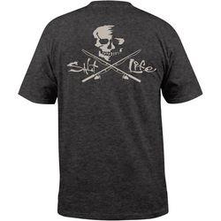 Salt Life Mens Skull & Poles Pocket Short Sleeve T-Shirt