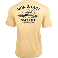 Salt Life Mens Run & Gun Short Sleeve Pocket T-Shirt