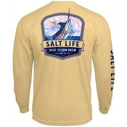 Salt Life Mens Blue Storm Brew T-Shirt