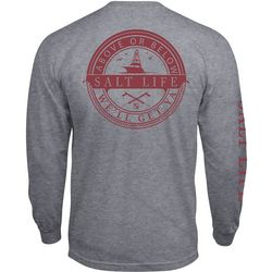 Salt Life Mens Above or Below Heathered Long Sleeve T-Shirt