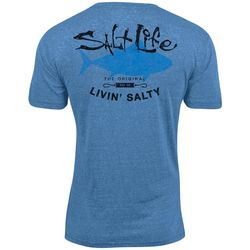 Salt Life Mens Big Shot Tuna Tri-Blend T-Shirt