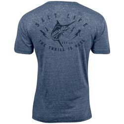 Salt Life Mens Thrill Is Reel Tri-Blend T-Shirt