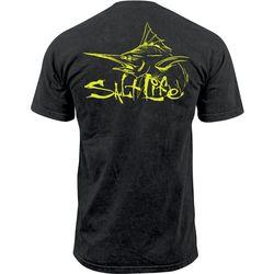 Salt Life Mens Marlin Life Pocket T-Shirt