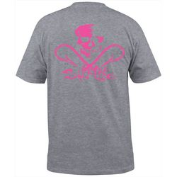 Salt Life Mens Skull & Hooks Heathered Pocket T-Shirt