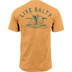 Salt Life Mens Live Salty Sail Pocket T-Shirt