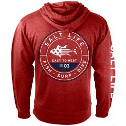 Salt Life Mens Tuna Patriot Zip Up Hoodie