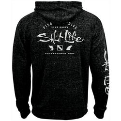 Salt Life Mens Watermans Trifecta Zip Up Hoodie