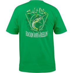 Salt Life Mens Rockin' & A Reelin' Short Sleeve T-Shirt