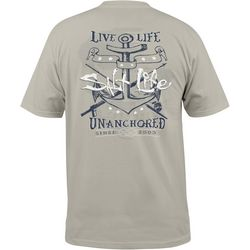 Salt Life Mens Live Life Unanchored Pocket T-Shirt