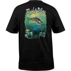 Salt Life Mens Wahoo Skulls Pocket T-Shirt
