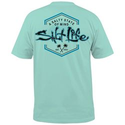 Salt Life Mens Salty State Of Mind Crew T-Shirt