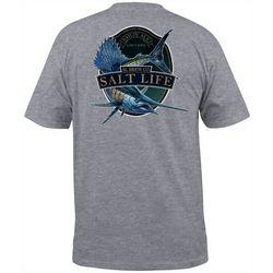 Salt Life Mens Sailfish Brew Heathered Short Sleeve T-Shirt