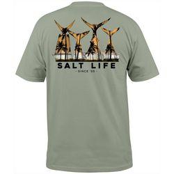 Salt Life Mens Fish Tail Scenic Pocket Crew T-Shirt