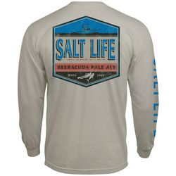 Salt Life Mens Barracuda Pale Ale Pocket Long Sleeve T-Shirt