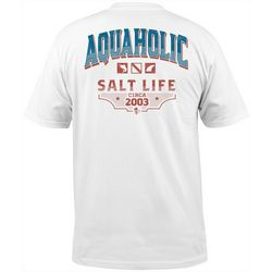 Salt Life Mens Aquaholic Pocket Crew T-Shirt