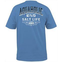 Salt Life Mens Aquaholic Pocket T-Shirt