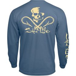 Salt Life Mens Skull & Hooks Pocket Long Sleeve T-Shirt