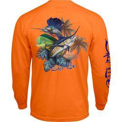Salt Life Mens Long Sleeve Paradise Slam T-Shirt