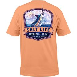 Salt Life Mens Blue Storm Pocket T-Shirt